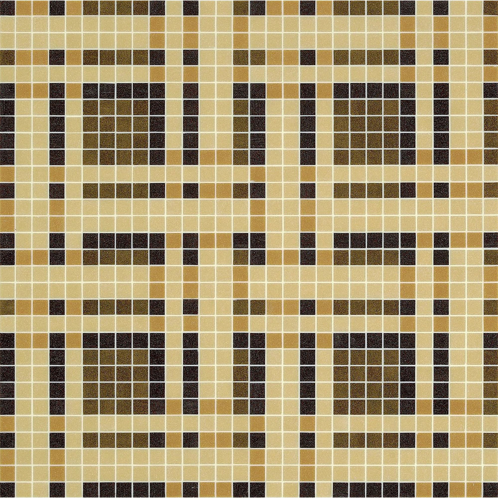 Bisazza Mosaico Decori 20 - Gate Gate Brown