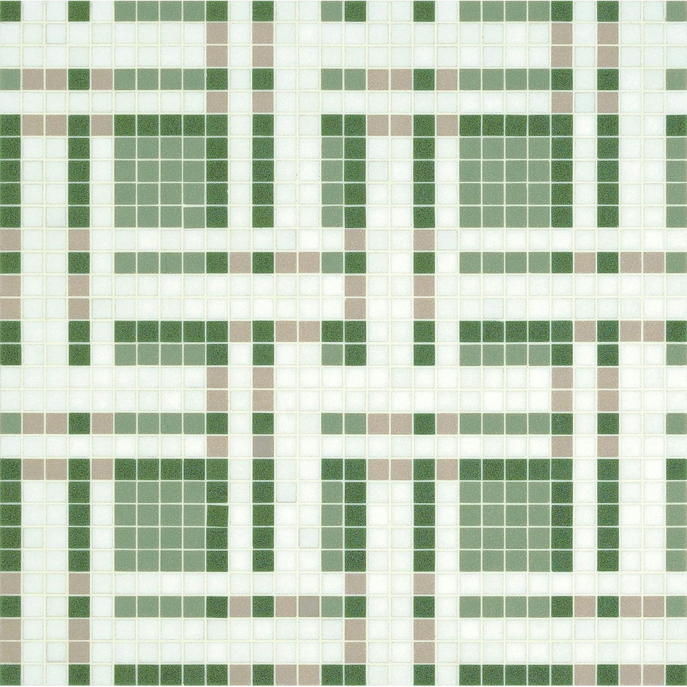 Bisazza Mosaico Decori 20 - Gate Gate Green