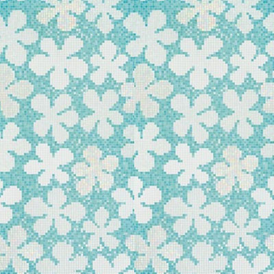 Bisazza Mosaico Decori 20 - Glass Flowers Blue Glass Flowers Blue