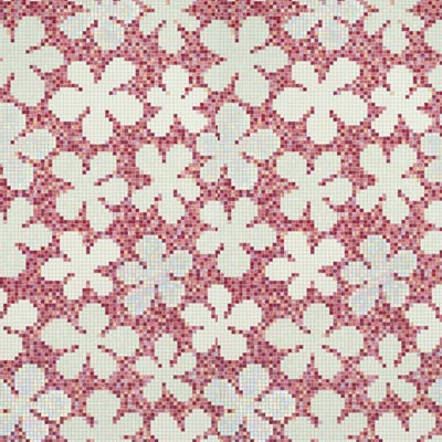 Bisazza Mosaico Decori 20 - Glass Flowers New Pink Glass Flowers New Pink