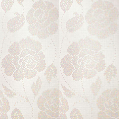 Bisazza Mosaico Decori 20 - Winter Flowers Bianco Winter Flowers Bianco