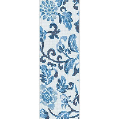Bisazza Mosaico Decori Opus Romano - Summer Flowers Blue A Summer Flowers Blue A