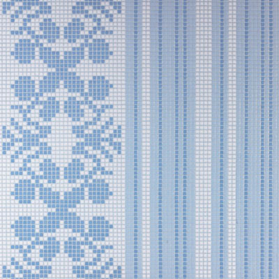 Bisazza Mosaico Decori Opus Romano - Wallpaper Blue Wallpaper Blue