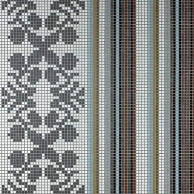 Bisazza Mosaico Decori Opus Romano - Wallpaper Grey Wallpaper Grey