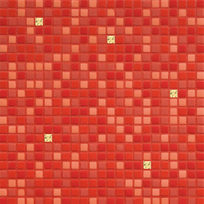 Bisazza Mosaico Opus Romano Mixes with Gold 12mm Fiama Oro Fiama Oro