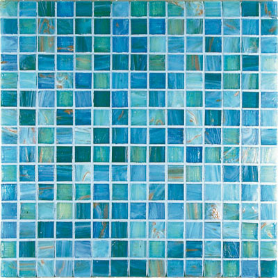 Casa Italia Gold/Bronze Mix Mosaic Aquamarine Mix (G5-N) CITG5AQUAMARINE