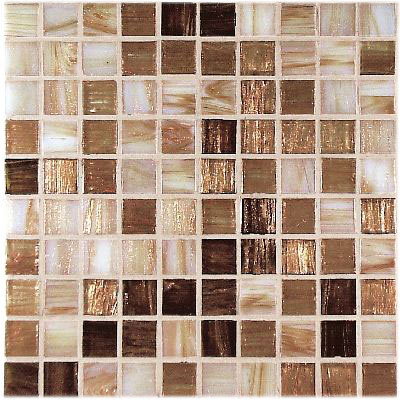 Casa Italia Gold/Bronze Mix Mosaic Gold Mix (G1-N) CITG1GOLDMIX