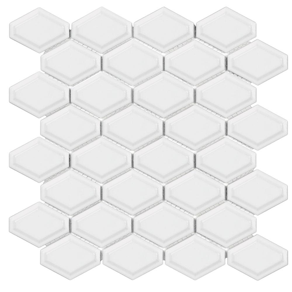 Casabella soho mosaic convex loft white for Bella casa tiles