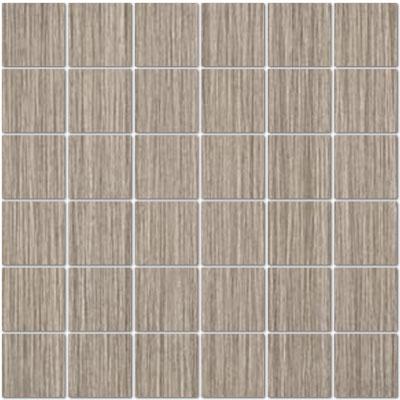 Casabella tea leaf mosaic 2 x 2 gray for Bella casa tiles