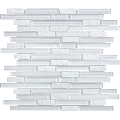 Chesapeake Flooring Slate Glass Mosaic Linear Blend Norwegian Ice