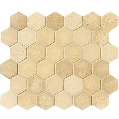 Crossville Bella Via Hexagon Golden Beach Limestone S033.HEX2