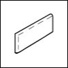 Crossville Cross-Grip 8 x 8 Bullnose Left Corner 4 x 8