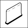 Crossville Cross-Grip 8 x 8 Cove Base Corner Left 6 x 8