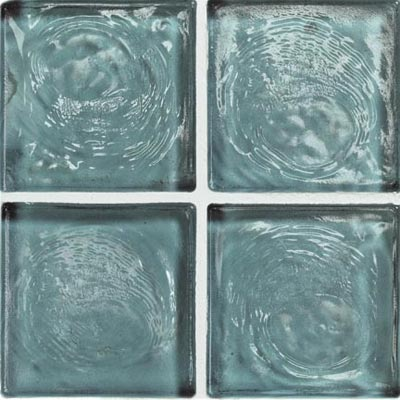 Crossville Echo Recycled Glass Clear 1 x 1 (Dropped) Blue Angel Clear EG400