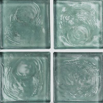 Crossville Echo Recycled Glass Clear 1 x 1 (Dropped) Ice Blue Clear EG080