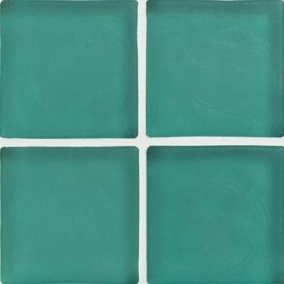 Crossville Echo Recycled Glass Frosted 1 x 1 (Dropped) Aqua Frosted EG010