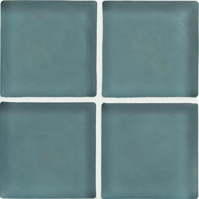 Crossville Echo Recycled Glass Frosted 1 x 1 (Dropped) Blue Angel Frosted EG400