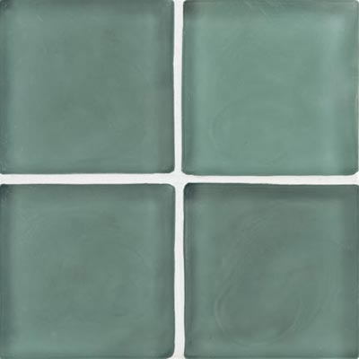 Crossville Echo Recycled Glass Frosted 1 x 1 (Dropped) Ice Blue Frosted EG080