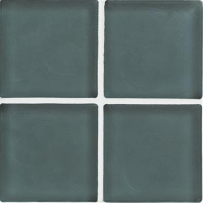 Crossville Echo Recycled Glass Frosted 1 x 1 (Dropped) Moody Blue Frosted EG25B