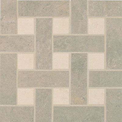 Crossville Empire Mosaic Basketweave Empress Silver UP / Alabaster PO EMP21.10103BW