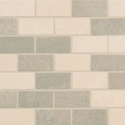 Crossville Empire Mosaic Brick Empress Silver UP / Alabaster PO EMP21.10102BR
