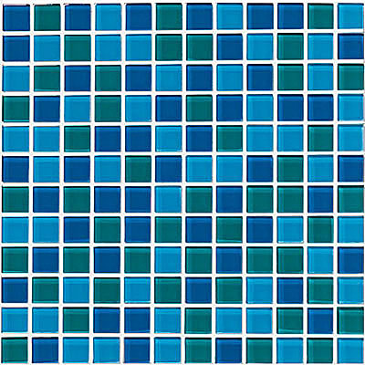 Crossville Glass Blox Blend Mosaic 1 x 1 Mermaid/Vivid Teal/Sapphire GB08/.10101