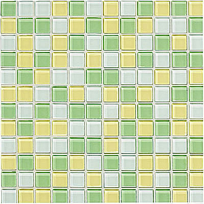 Crossville Glass Blox Blend Mosaic 1 x 1 Moonbeam/Lemon Zest/Lime Shimmer GB04/.10101