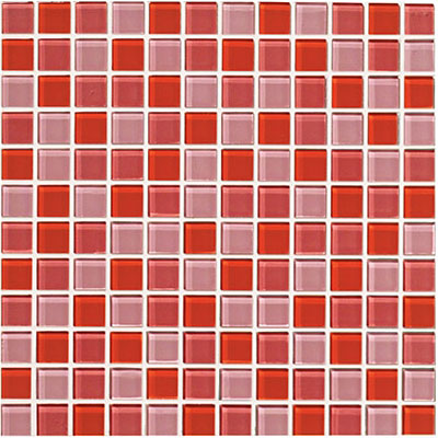 Crossville Glass Blox Blend Mosaic 1 x 1 Sunrise/Rose Aura/Flame GB10/.10101