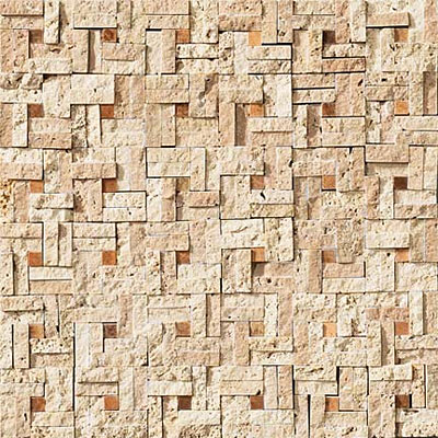 Crossville Modern Mythology Labyrinth Split Mosaic Light Travertine/Timber S01111212SP6