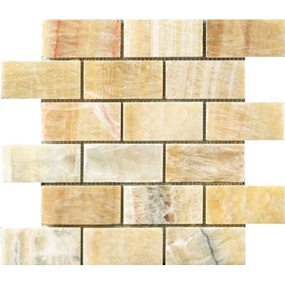 Crossville Modern Mythology Pegasus Brick Mosaic Honey Onyx S00310204BR