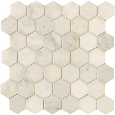 Crossville Modern Mythology Statuary White Hexagon Statuary White S002.10202HEX