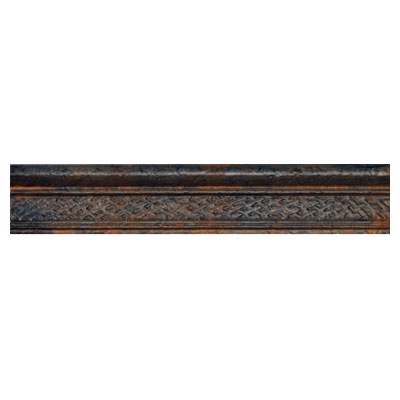 Crossville Urban Renewal - Aged Iron 6 x 6 Crackle/Basketweave Bullnose Liner M300 10312BN