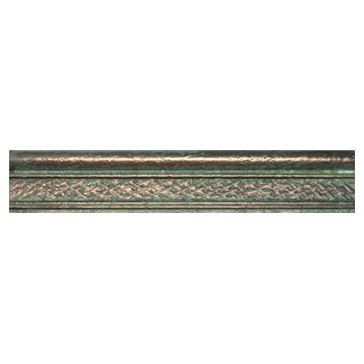 Crossville Urban Renewal - Bronze Verde Satin 6 x 6 Crackle Basketweave Bullnose Liner M400 10312BN