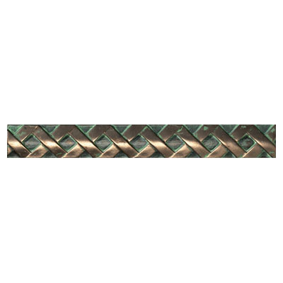 Crossville Urban Renewal - Bronze Verde Satin 6 x 6 Lattice Liner M400 10212LTL