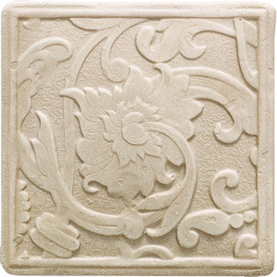 Daltile Arabesque Decos and Inserts Crema Fabrege Deco FA77 44DECOA1P