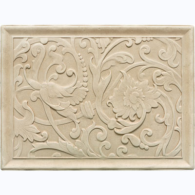 Daltile Arabesque Decos and Inserts Crema Fabrege Mural FA77 12161P