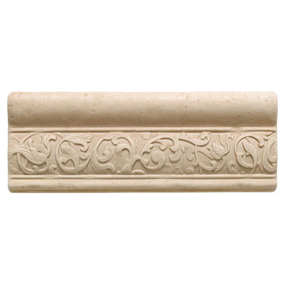 Daltile Arabesque Decos and Inserts Crema Fabrege Ogee FA77 38OGEE1P