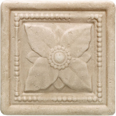 Daltile Arabesque Decos and Inserts Crema Laurel Deco FA77 44DECOB1P