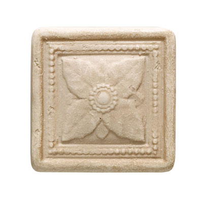 Daltile Arabesque Decos and Inserts Crema Laurel Insert FA77 22DECOB1P