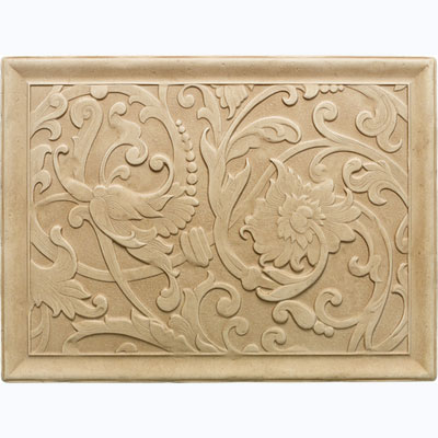 Daltile Arabesque Decos and Inserts Sienna Fabrege Mural FA78 12161P