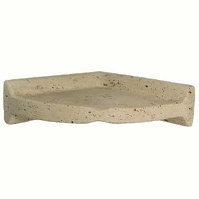 Daltile Bathroom Accessories Resin Light Travertine Large Corner Shelf 0001 BA780