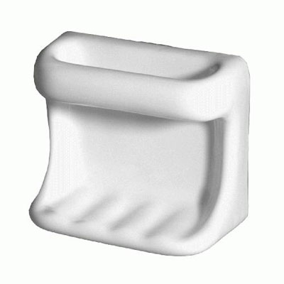 Daltile Bathroom Accessories Universal Universal White Soap Dish with Washcloth Holder U100 BA5015T