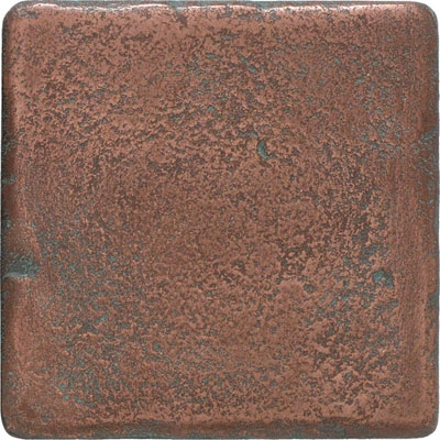 Daltile Castle Metals 4 x 4 Tumbled Stone Wall Tile Aged Copper Tumbled Stone