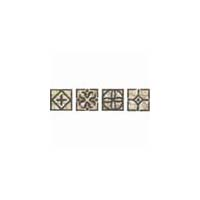 Daltile Fashion Accents Classics Wrought Iron Insert Dots 2 x 2 Beige Wrought Iron Inserts FA31 22DOTS1P