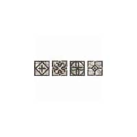 Daltile Fashion Accents Classics Wrought Iron Insert Dots 2 x 2 Grey Wrought Iron Inserts FA33  22DOTS1P