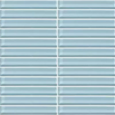 Daltile Classic Colors Mesh Mounted 1 x 6 Blue Lagoon CW13 16MS1P