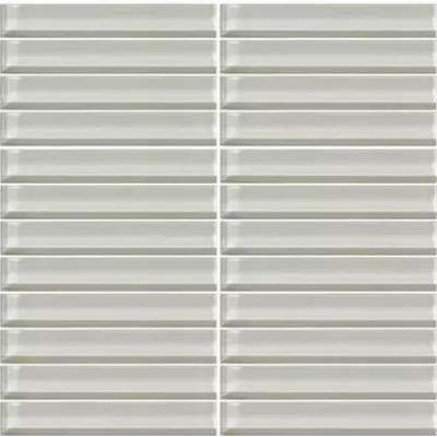 Daltile Classic Colors Mesh Mounted 1 x 6 Feather White CW02 16MS1P