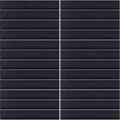 Daltile Classic Colors Mesh Mounted 1 x 1 Midnight Black CW20 11MS1P