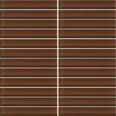 Daltile Classic Colors Mesh Mounted 1 x 6 Root Beer CW11 16MS1P