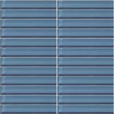 Daltile Classic Colors Mesh Mounted 1 x 6 Twilight Blue CW14 16MS1P